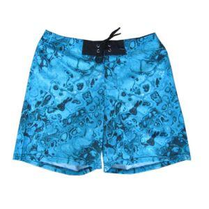 Shorts blu del reticolo di colore con l'illustrazione di modo