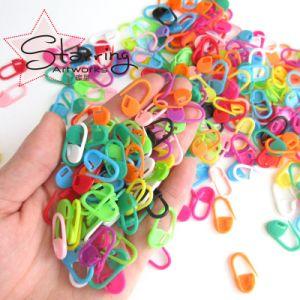 かぎ針編みのマーカーのための普及した多彩なPlatsic安全ピン