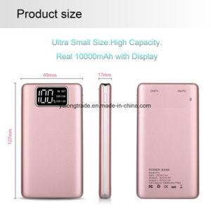 Batería de la potencia del cargador del USB de la visualización de LED mini para el teléfono móvil