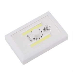 2W магнитного работать от батареи гараж шкаф переключатель лампы светодиод початков стены ночного света