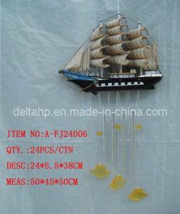 La pendaison de l'artisanat, du bois livré avec le vent des cloches et les poissons (DTA-FJ24006)
