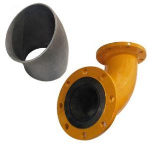 Resistente ao Desgaste Rbsic carboneto de silício revestimento em cerâmica / Forro do Tubo / Camisa do Tubo