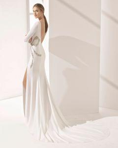 De lange Toga van het Huwelijk van de Kleding van de Chiffon van de Koker Zij Gespleten Bruids