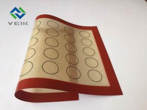 Alta stuoia termoresistente rivestita di silicone di cottura