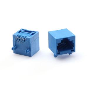 8P de entrada lateral lengüeta Conector RJ45 sin protección