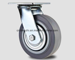 Для тяжелого режима работы резиновые самоустанавливающиеся колеса