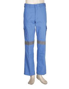 Tissu de couleur lumineux Pantalon de travail lourd avec bandes réfléchissantes