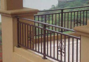 Pasamanos de escalera de aluminio de alta calidad reja de - Escaleras de hierro forjado ...