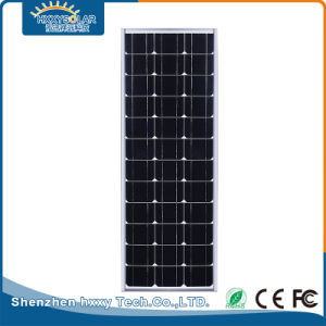 1つの屋外LEDの通りの太陽ライトの携帯用70Wすべて