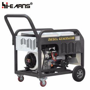 Luchtgekoelde Open Diesel van de Cilinder van het Type van Frame Enige Generator (DG11000E)