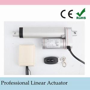 Micro tamaño 24 voltios CC actuadores lineales Eléctrico del Motor de la norma IP54 para interiores y de la puerta