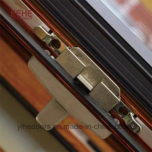 Finestra di alluminio della glassa del blocco per grafici di profilo di trasferimento di legno del grano