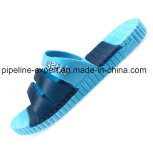 Custom sandale Diapositive Lucite Footbed Jelly Chaussures hommes des patins en PVC transparent