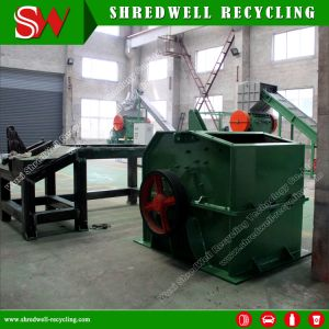 Moinho de martelo de metal usados para a reciclagem de resíduos de alumínio/cobre/Aço