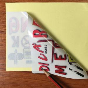 Etiqueta de estática impressa costume do vinil dos decalques da película do indicador