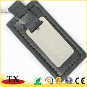 Custom печать держателя ключа из натуральной кожи