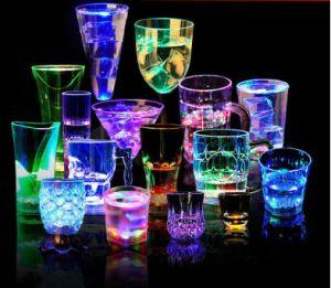 Cerveja luminosa de indução de vidro, vidro luminoso LED, Indução Dragon Cup, Wedding Bar ânimo Copa Luminoso