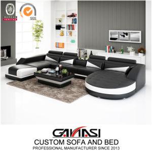 Itália casa de lazer moderno mobiliário de sala de estar, sofá de couro (G8018)