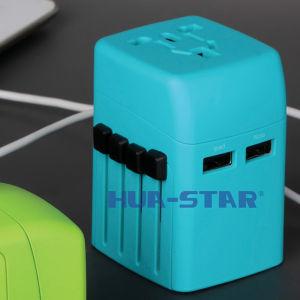 Adaptador de viaje con cargador USB (HS-T101DU)