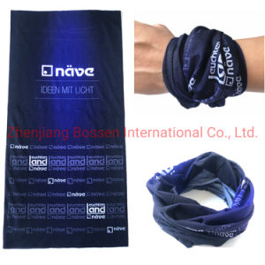 La fábrica OEM logo impreso personalizado de microfibra poliéster Bufanda de la máscara facial