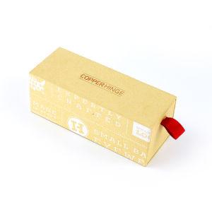 2019 Zonnebril die van de Lade van het Embleem van de Douane van de Manier de Glijdende de Vakje Gerecycleerde Gift van de Verpakking van het Vakje van de Gift van het Document van Kraftpapier verpakken