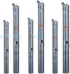 4 浸水許容の試錐孔の多段式ポンプ(4SP8-10-1.5KW)