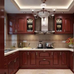 Cozinha personalizada clássico mobiliário de madeira sólida armário de cozinha