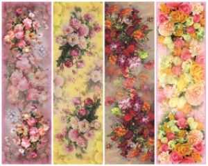 La impresión de flores de seda de impresión elegante pañuelo (C-038)
