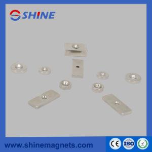 Magnete svasato neodimio rettangolare di figura dell'anello di figura con nichelato