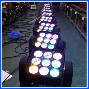 LEDの照明9PCS*12W RGBWマトリックスの移動ヘッドライト