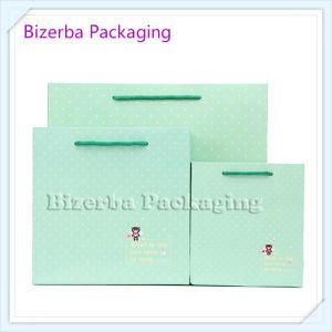 Sacchetto della carta da stampa di colore verde
