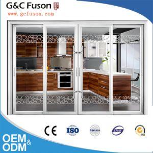 Porte int rieure en aluminium glissante avec double for Vitrage pour porte interieure