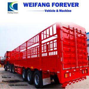 バルク貨物または動物または穀物の輸送のための塀または半棒のトレーラー