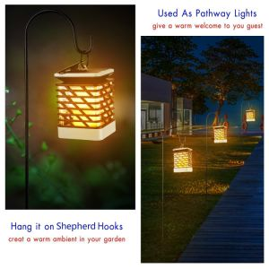 庭の景色のための卸売価格LEDの明滅の炎の太陽ランタンライト