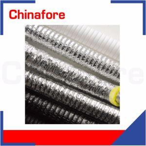 La résistance au feu en aluminium double couche souple isolée conduit d'aluminium