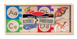 Selbstkorrigierendes Alphabet-hölzerne Puzzlespiele mit Ablagekasten (52 PCS)