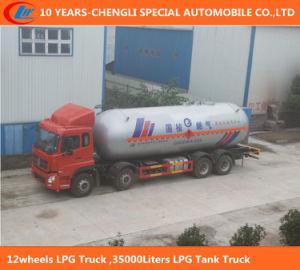 運び、満ちるガスのためのトラック35000リットルのLPGタンク