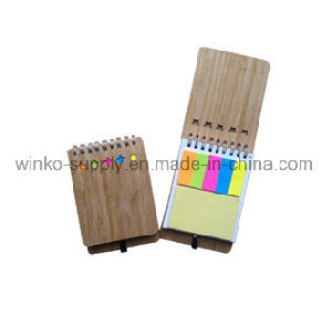 Tampa de bambu Eco personalizado Notebooks em espiral com anotações