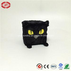 Praça de pelúcia Black Cat recheado com uma esponja macia de brinquedos para crianças