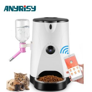 Multi Sprachen-APP-Soem-Echtzeituhr-intelligentes Haustier-Zufuhr-Produkt mit Waterer