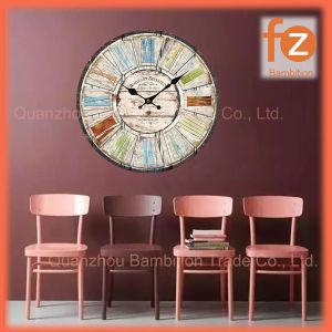 La decoración del hogar de promoción de madera Antiguo reloj de pared Reloj de cuarzo Fz016006-8 Frame