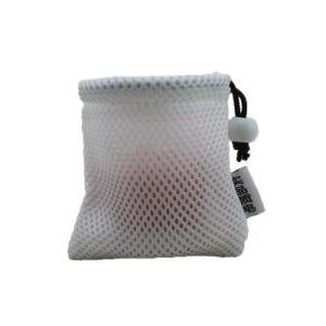 卸し売り青いイヤホーンのショッピング包装のドローストリングの網のギフト袋