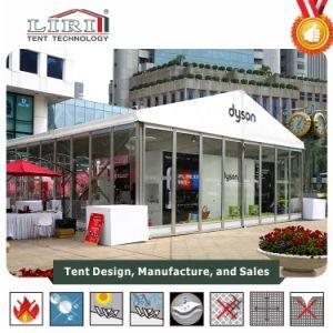 販売のためのガラス壁が付いている9X6mの白党玄関ひさしのテント