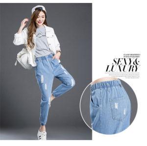 女性のための伸縮性があるウエストのガードルのジーンズ