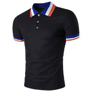 다채로운 늑골을%s 가진 도매 싼 보통 남자의 폴로 셔츠