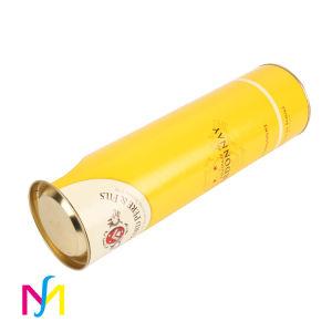Оптовая торговля на заводе цилиндр крафт-бумаги раунда вино упаковке