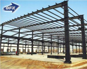 La estructura de acero galvanizado de almacén de construcción prefabricados