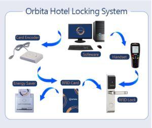 방수 호텔 RFID 열쇠가 없는 카드 자물쇠