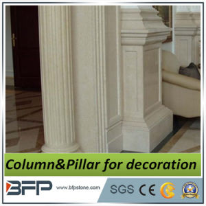 Keizer Beige Marmeren Pijler/Kolom voor de VijfsterrenBouw van het Project van het Hotel