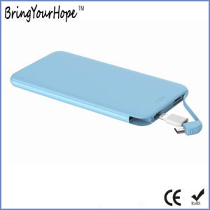 5000mAh de energía de la tarjeta de banco con un cable desmontable (XH-PB-236S)